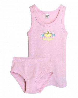 """Комплект для девочек (майка, трусы) """"Unique 2"""", цвет Светло-розовый"""