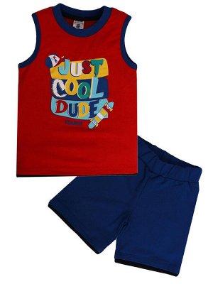 """Комплекты для мальчиков """"Just cool dude"""", цвет Красный"""