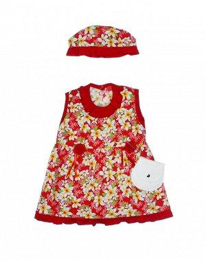 """Платья для девочек """"Light red"""", цвет Красный"""