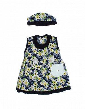 """Платья для девочек """"Light blue"""", цвет Темно-синий"""