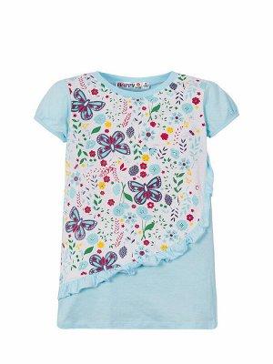 """Платья для девочек """"Whirling butterflies"""", цвет Голубой"""