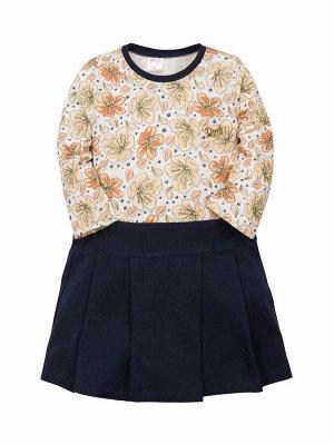 """Платья для девочек """"Florets orange"""", цвет Нежно-оранжевый"""