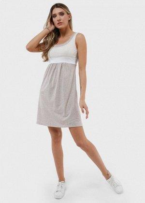"""Платье """"Делмар"""" для беременных и кормящих бежевое"""