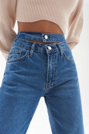 Прямые джинсы из 100% хлопка с декоративным поясом TOPTOP STUDIO
