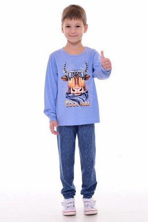 Пижама подростковая 11-042а (индиго-светлый)