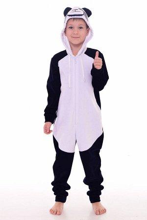 Пижама подростковая Кигуруми Панда 11-036 (темно-синий)