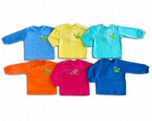 Рубашечка Велюр 100% хлопокВелюровая рубашечка из мягкой, приятной на ощупь тканис мягкой аппликацией. Такая рубашечкаотлично себя зарекомендовалакак для детей с рождения, так и для деток дошколь