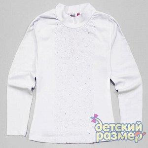 Блузка Состав: 95% хлопок, 5% эластанШкольная блузка-водолазка с длинным рукавом от фабрики Matilda:  - основа из хлопкового трикотажа с добавлением эластана (обеспечивает особенно хорошую посадку и