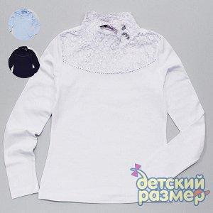 Блузка Состав: 95% хлопок, 5% эластан; Ткань: кулирка с эластаном; Производитель: Турция; Фабрика: ADK Нарядная блузка с длинным рукавом: - модель из легкого и приятного на ощупь трикотажа, благодаря