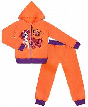 Костюм оранжевый для девочки Цвет: оранж+фиол