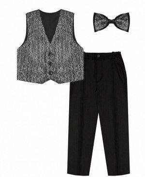 Комплект нарядный для мальчика ассортимент,рост 104 Цвет: серый+черный