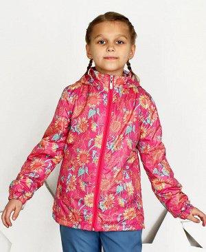 Малиновая ветровка для девочки Цвет: малиновый