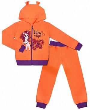 Костюм для девочки Цвет: оранж+фиол