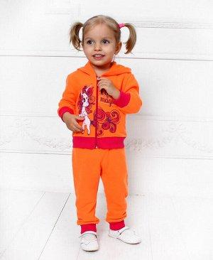 Костюм оранжевый для девочки Цвет: оранж+малина