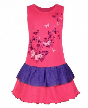 Малиновый сарафан для девочки Цвет: малина+фиолет