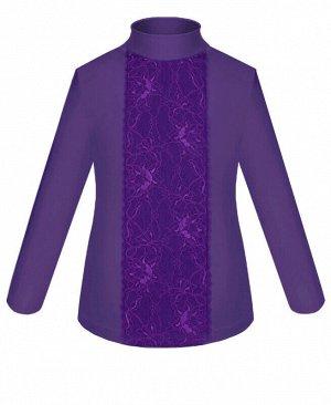Школьная водолазка (блузка) для девочки приталенного силуэта Цвет: фиолетовый