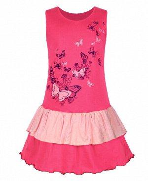 Малиновый сарафан для девочки Цвет: малиновый