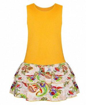 Жёлтый сарарфан для девочки Цвет: желтый