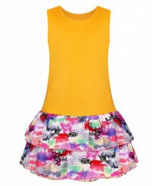 Жёлтый сарафан для девочки Цвет: желтый