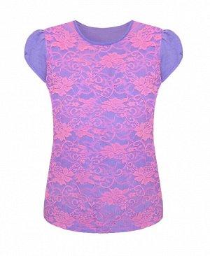 Розовая футболка (блузка) для девочки Цвет: розовый