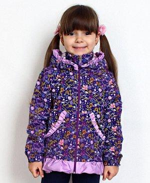 Фиолетовая ветровка для девочки Цвет: фиолет