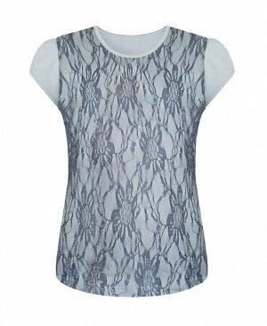 Серая футболка (блузка) для девочки Цвет: серый