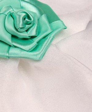 Нарядное белое платье с лентами для девочки Цвет: белый