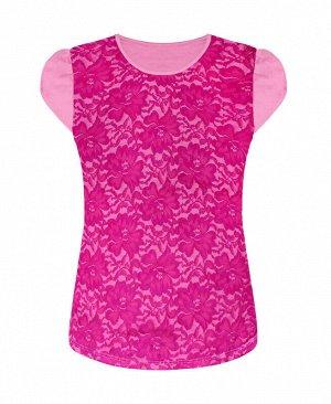 Футболка (блузка) для девочки,фуксия Цвет: фуксия
