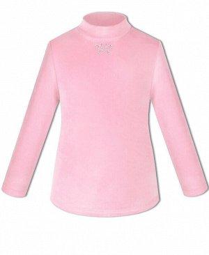 Велюровая водолазка для девочки Цвет: розовый