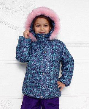Зимняя куртка для девочки Цвет: баклажан