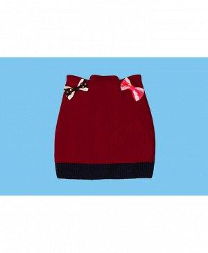 Шапка для девочки красный, размер 42/44 Цвет: красный