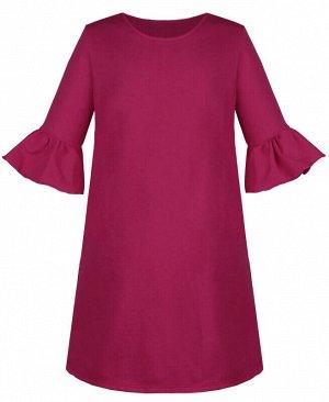 Платье для девочки с воланами Цвет: вишнёвый
