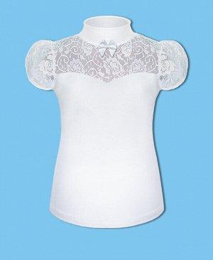 Белая школьная водолазка(блузка) для девочки Цвет: белый