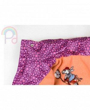 Зимняя куртка для девочки Цвет: фиолет.звёзды