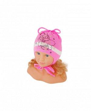 Шапка розовая для девочки Цвет: яр.розовый