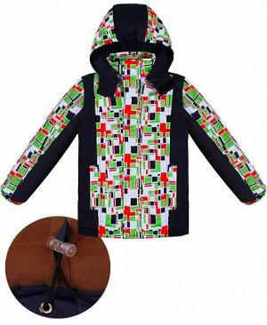 Зимняя куртка для мальчика Цвет: т.синий