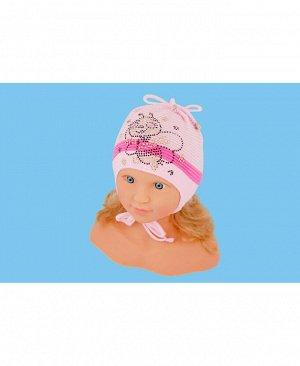 Шапка розовая для девочки Цвет: бл.розовый