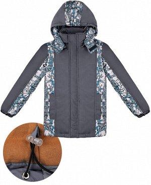 Зимняя куртка для мальчика Цвет: серый