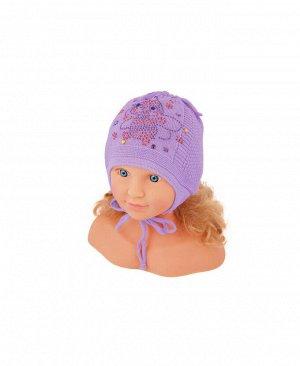 Сиреневая шапка для девочки Цвет: сирень