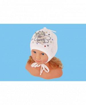 Белая шапка для девочки Цвет: белый