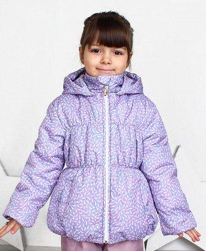 Куртка для девочки на осень-весну Цвет: серо-розовый