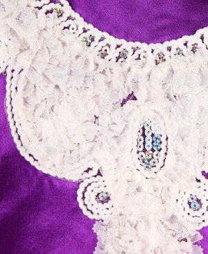 Нарядное фиолетовое платье для девочки Цвет: фиолетовый