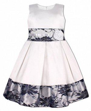 Нарядное белое платье для девочки с гипюром Цвет: белый