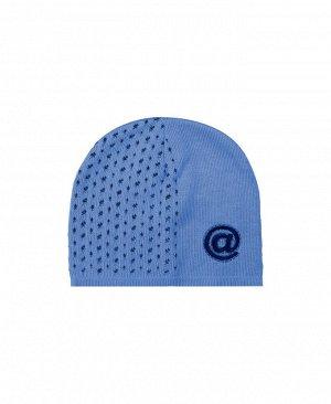 Голубая шапка для мальчика Цвет: индиго