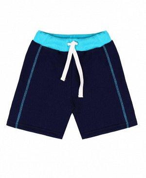 Синие шорты для мальчика Цвет: синий+бирюза