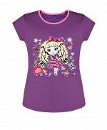 Фиолетовая футболка для девочки Цвет: фиолетовый