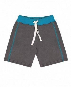 Серые шорты для мальчика Цвет: серый+бирюза