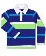 Рубашка-поло для мальчика в полоску Цвет: белый