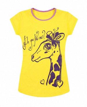 Жёлтая футболка для девочки Цвет: жёлтый