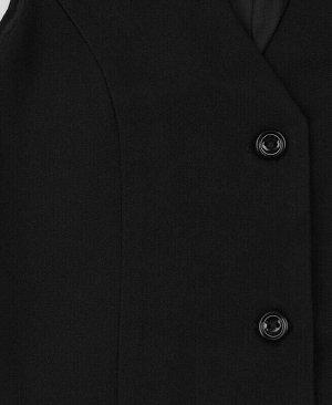 Чёрный школьный жилет для девочки Цвет: черный